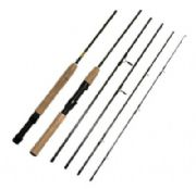 7.5ft Carbon Spin Fly Travel Rod (5 sections) 4 WT RD16